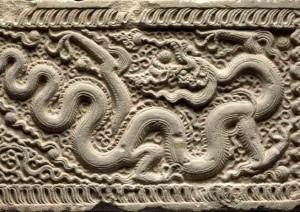 Ornement d'architecture Pierre  époque ly, 11e  siècle  musée national d'Histoire  du Vietnam, Hanoi © D.r./thierry ollivier