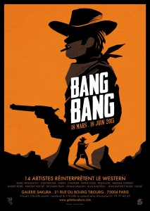 AFFICHE EXPO BANG BANG GALERIE SAKURA