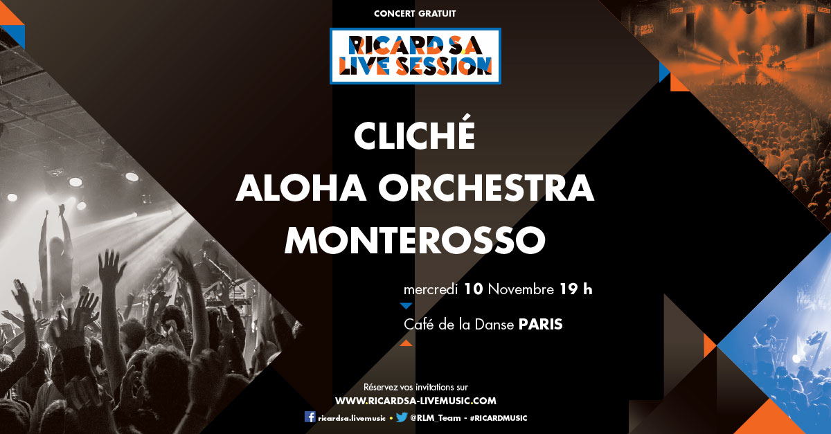 Ricard SA Live Session - 10nov au CDLD